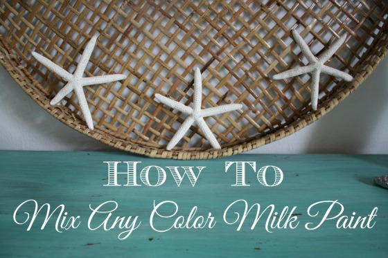 How To mix any color milk paint chart and how to